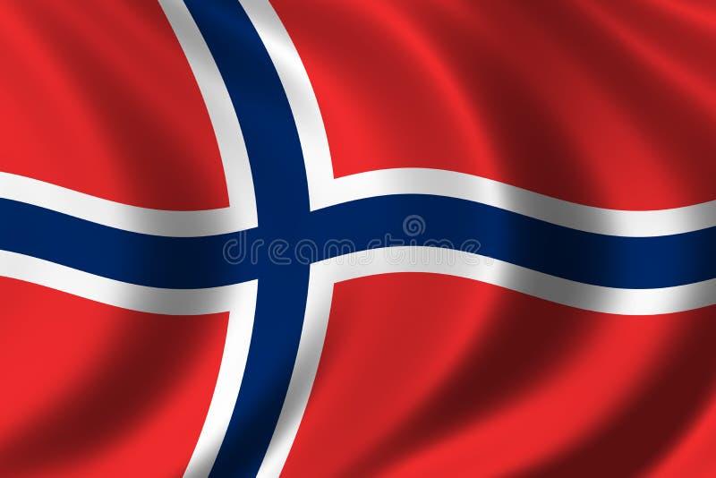 Indicateur de la Norvège illustration stock