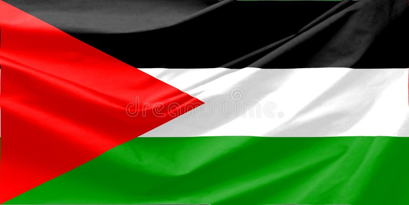 Indicateur de la Palestine photo stock