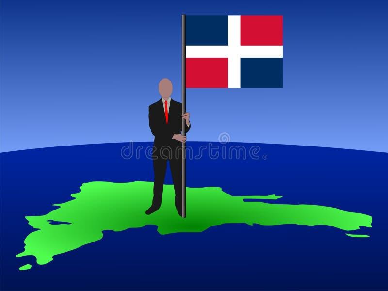 Indicateur de la république dominicaine d'homme illustration de vecteur