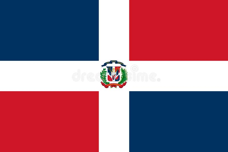 Indicateur de la r?publique dominicaine Illustration de vecteur Drapeau du monde illustration libre de droits