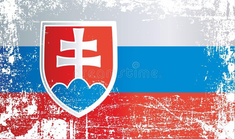 Indicateur de la Slovaquie Taches sales froissées illustration stock