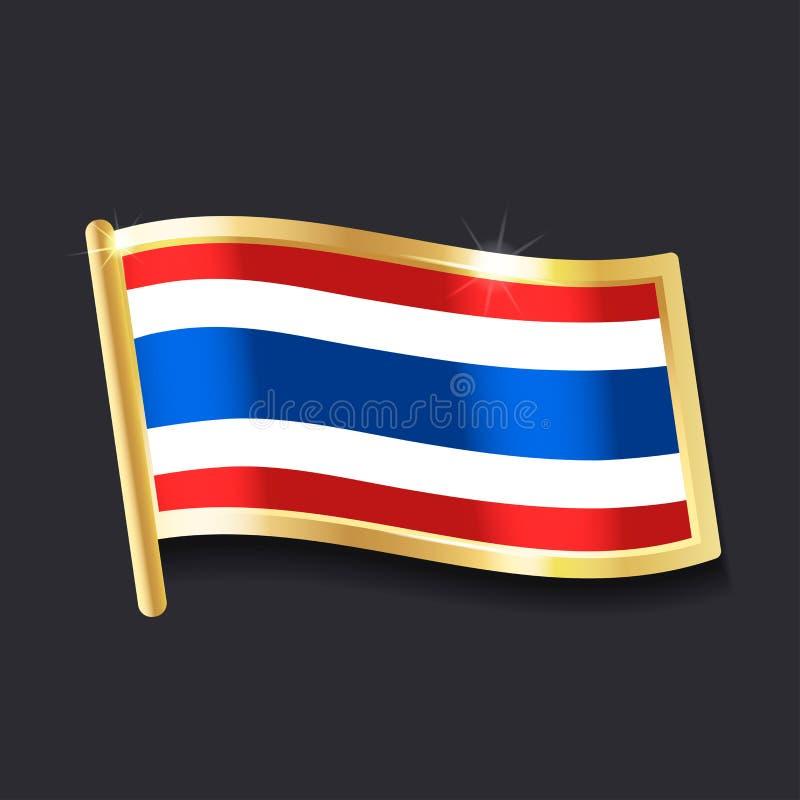 Indicateur de la Thaïlande illustration de vecteur