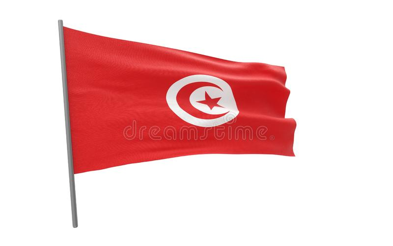 Indicateur de la Tunisie illustration stock