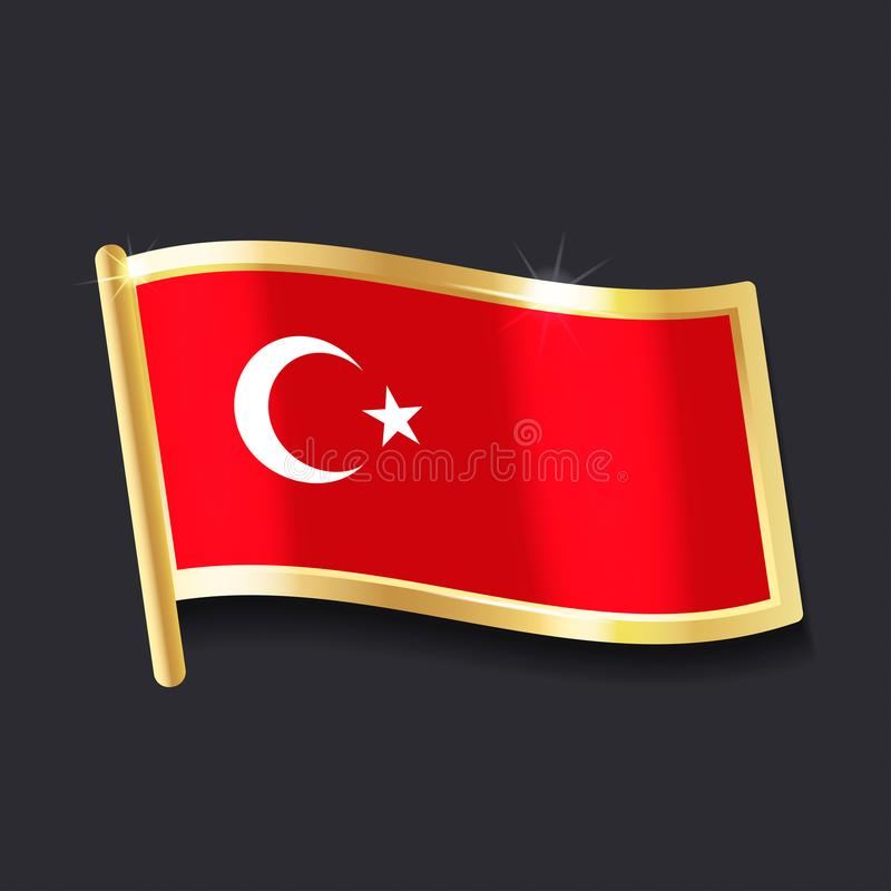 Indicateur de la Turquie illustration de vecteur