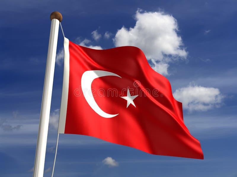 Indicateur de la Turquie (avec le chemin de découpage) illustration libre de droits