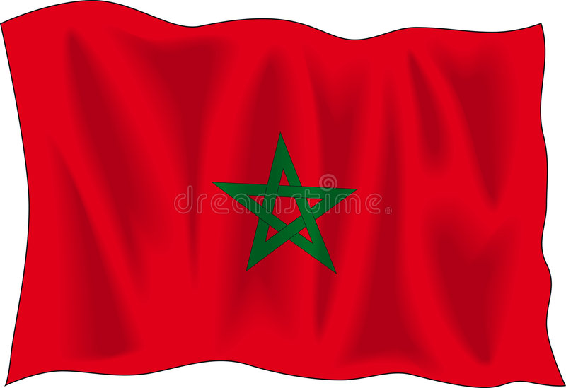 Indicateur de Marocco illustration stock
