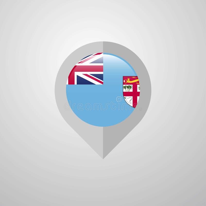 Indicateur de navigation de carte avec la fédération Bosnie-Herzégovine la Floride illustration libre de droits