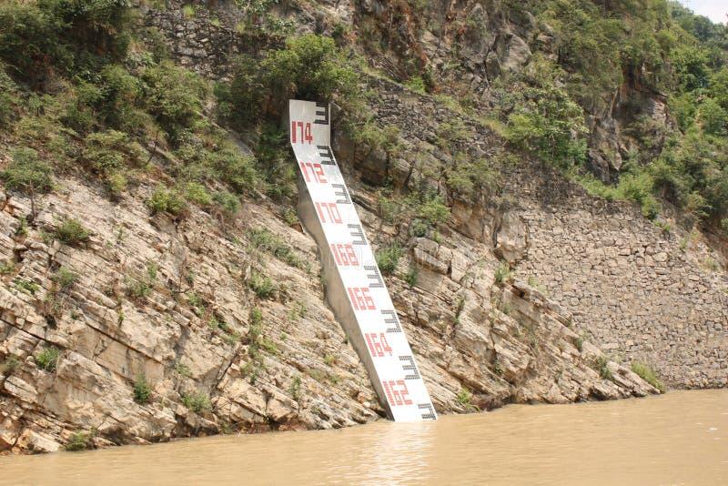 Indicateur de niveau de l'eau image stock
