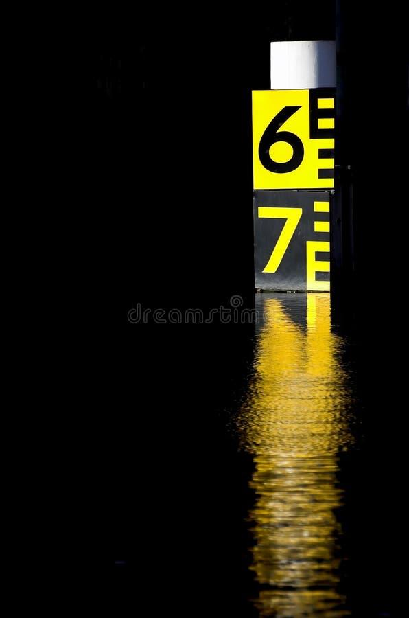 Indicateur de niveau de l'eau photos libres de droits