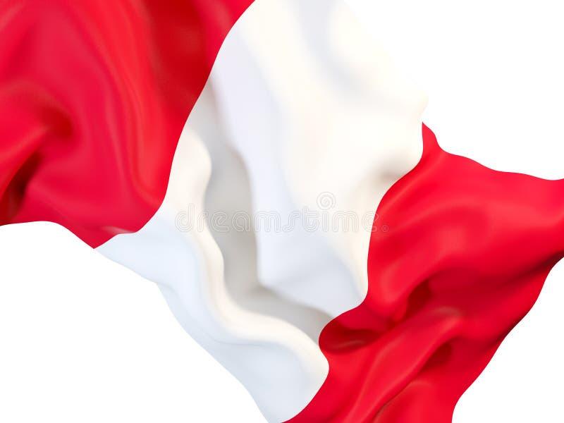 Indicateur de ondulation du Pérou illustration libre de droits