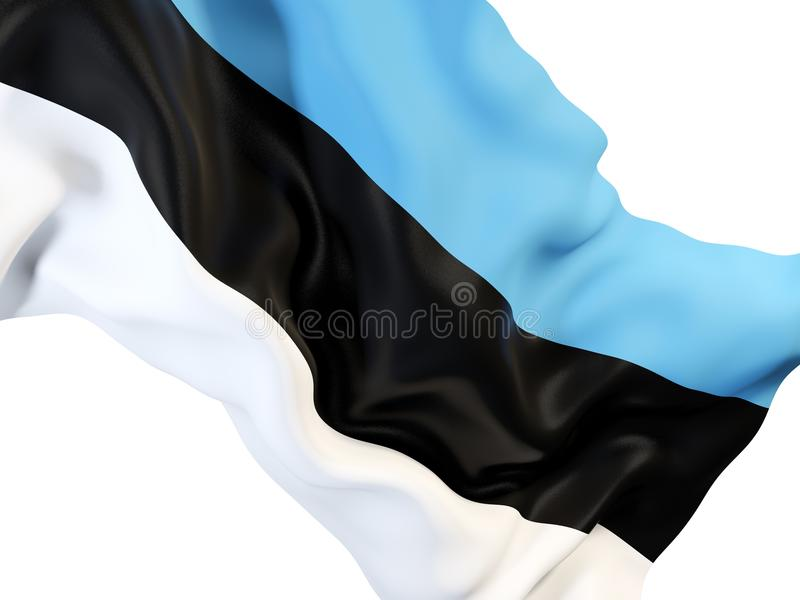 Indicateur de ondulation de l'Estonie illustration stock