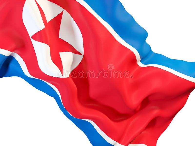 Indicateur de ondulation de la Corée du Nord illustration stock