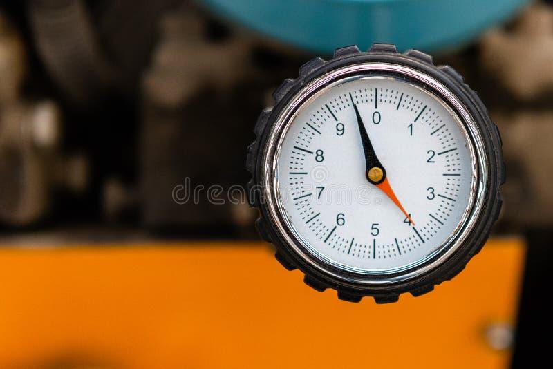 Indicateur de pression de compresseur d'air photo libre de droits