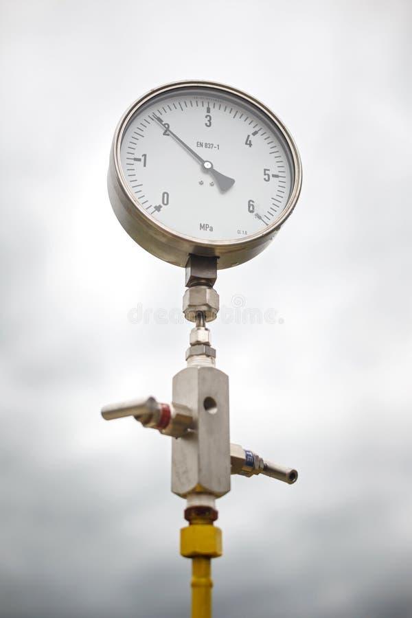 Indicateur de pression de tête de puits image stock