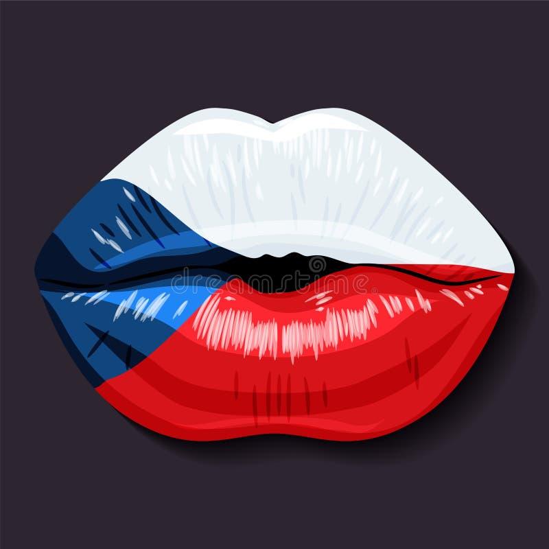 Indicateur de République Tchèque illustration libre de droits