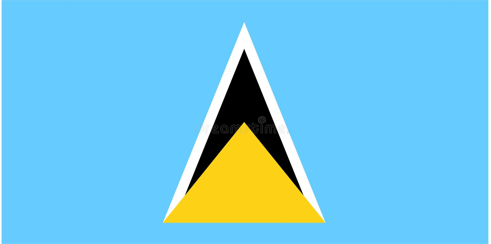 Indicateur de saint Lucia illustration libre de droits