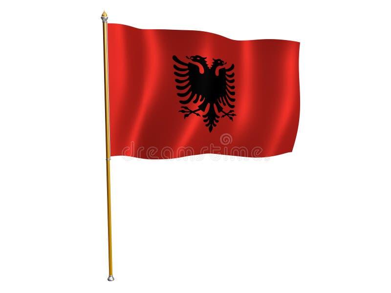 Indicateur de soie de l'Albanie illustration de vecteur