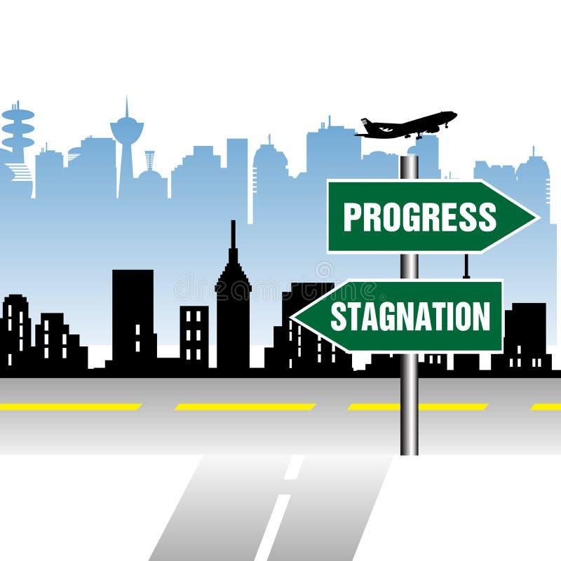 Indicateur de stagnation de progrès illustration de vecteur
