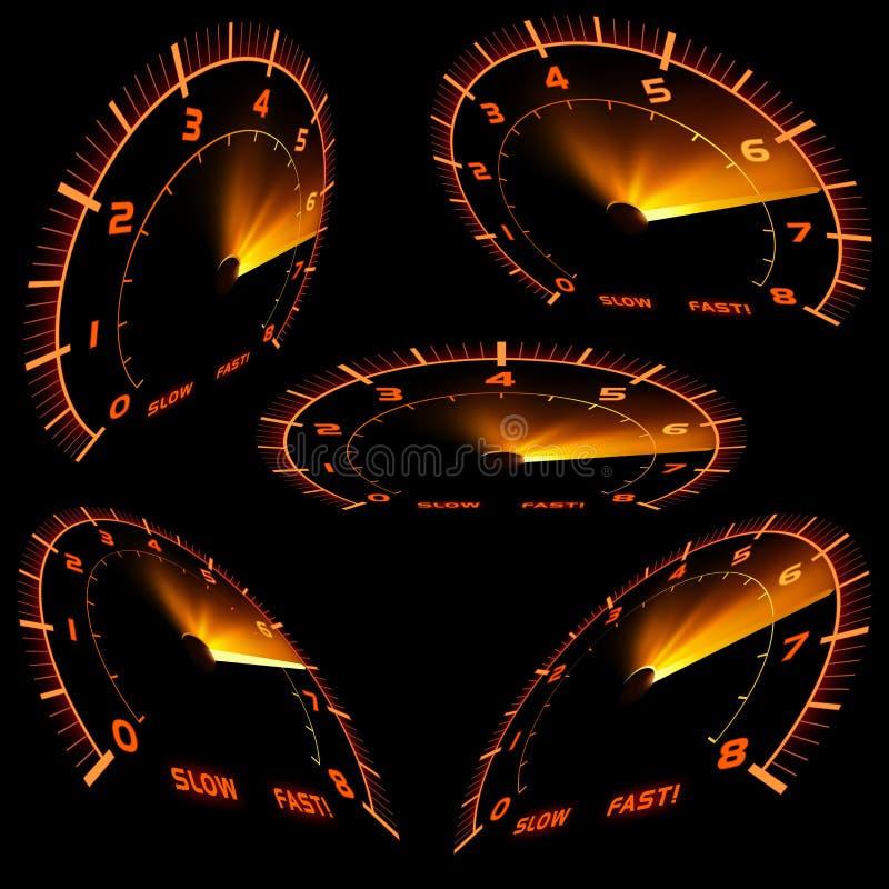 Indicateur de vitesse illustration de vecteur