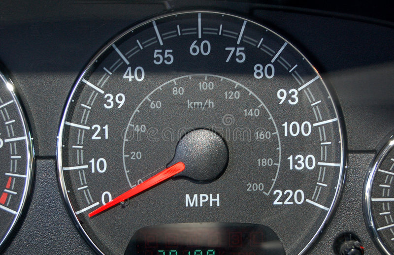 Indicateur de vitesse photo stock