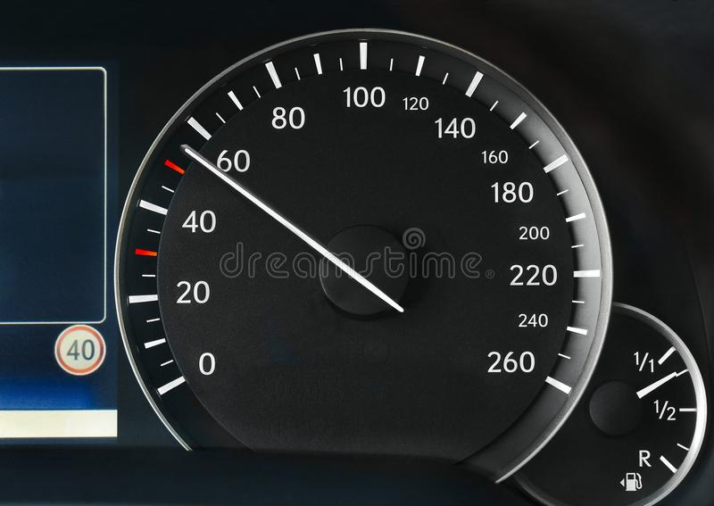 Indicateur de vitesse d'un véhicule photos stock