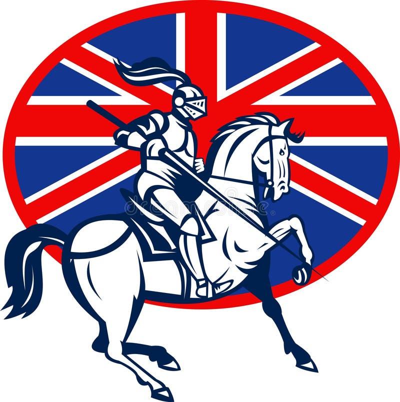 Indicateur des Anglais de lance de cheval de chevalier illustration libre de droits