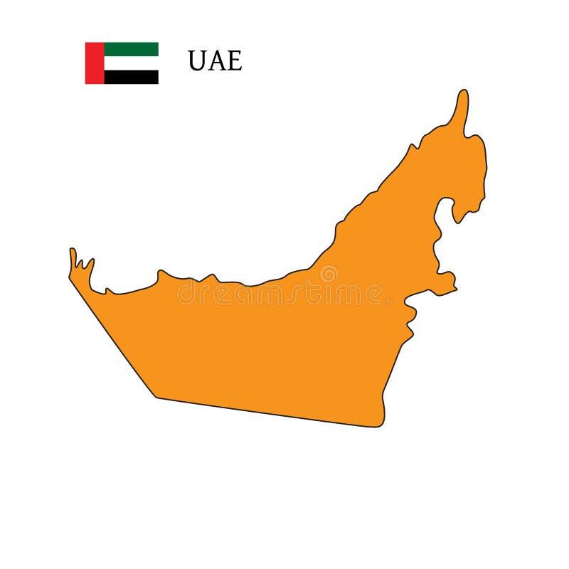 Indicateur des Emirats Arabes Unis Drapeau EAU Indicateur des Emirats Arabes Unis illustration de vecteur