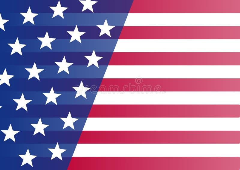 Indicateur des Etats-Unis Bannière pour votre texte Vecteur illustration stock