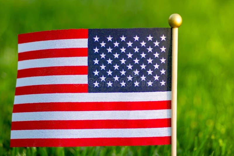 Indicateur des Etats-Unis Fond d'herbe verte E images libres de droits
