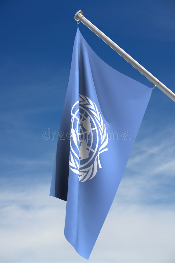 Indicateur des Nations Unies illustration stock