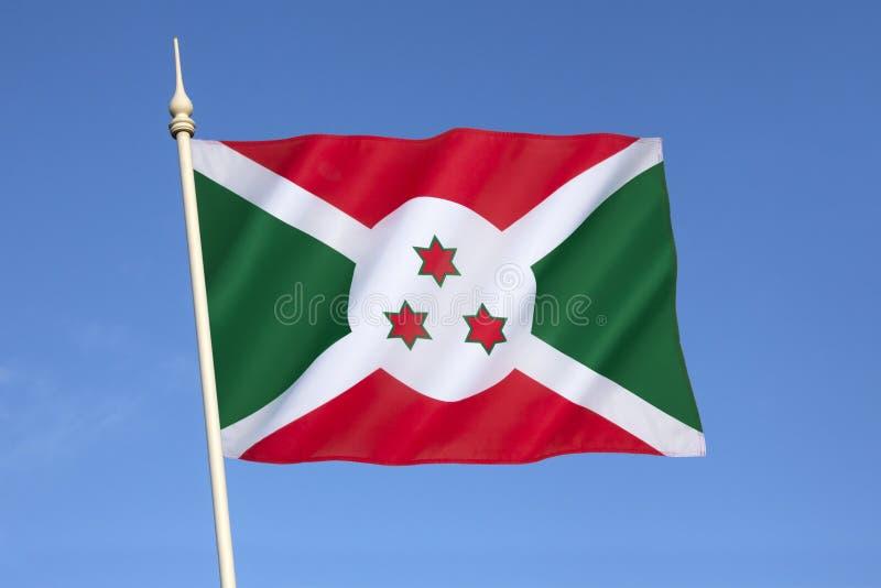 Indicateur du Burundi photographie stock libre de droits