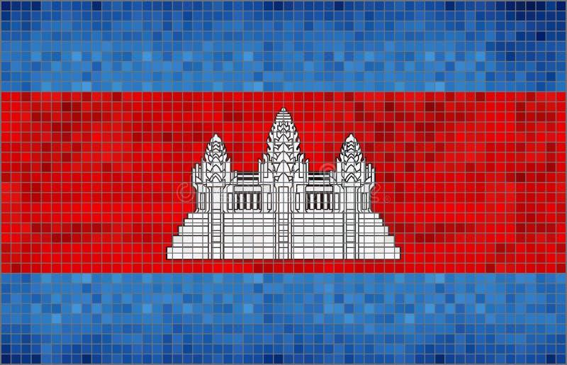 indicateur du Cambodge illustration de vecteur