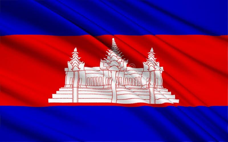 indicateur du Cambodge illustration libre de droits