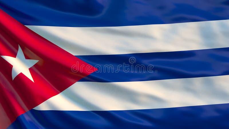 Indicateur du Cuba Indicateur de ondulation du Cuba illustration 3D illustration stock