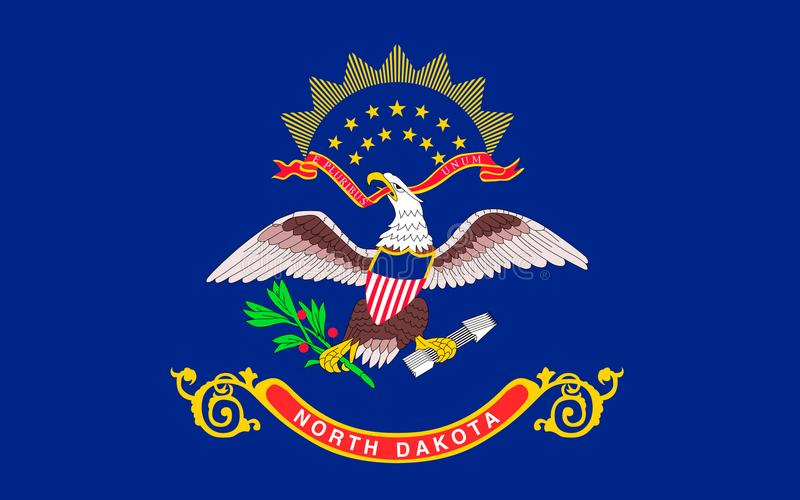 Indicateur du Dakota du Nord, Etats-Unis images stock