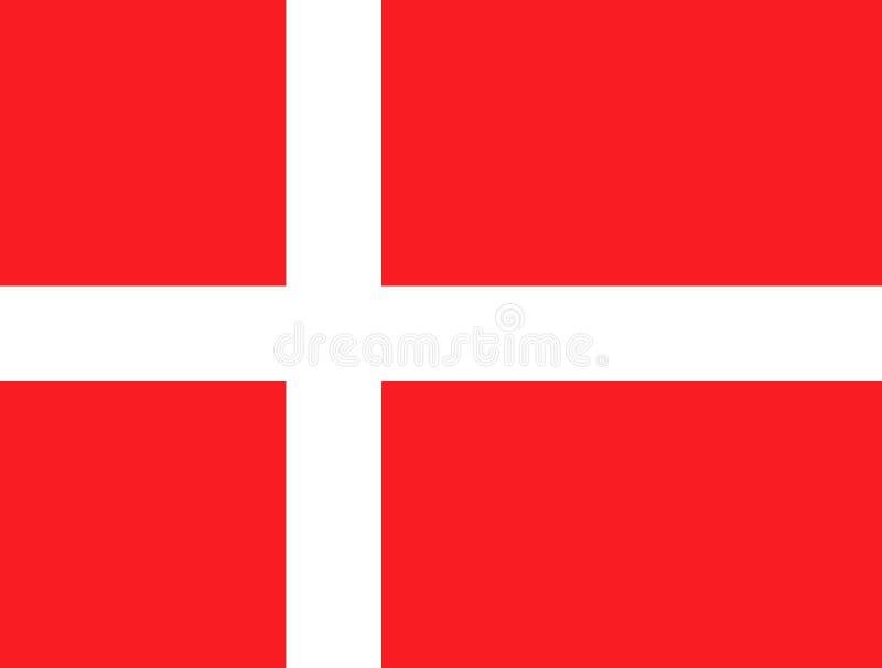 Indicateur du Danemark illustration de vecteur