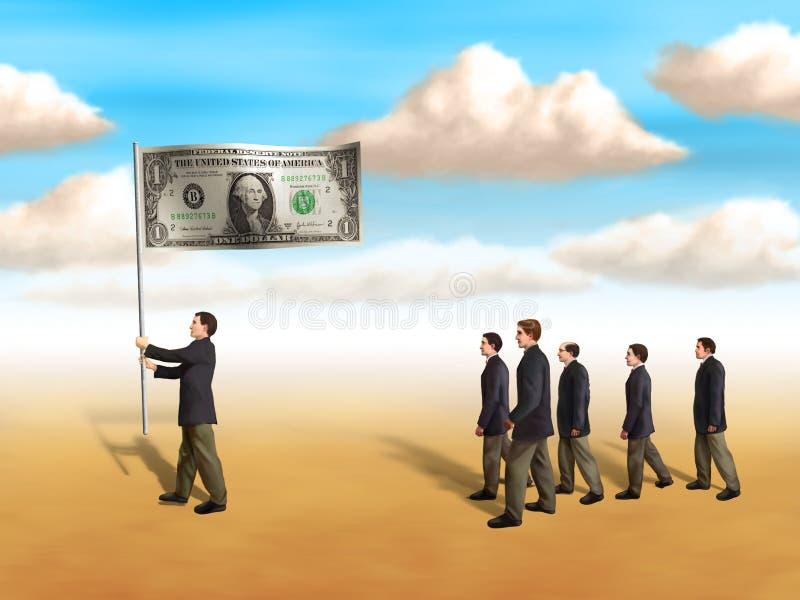indicateur du dollar illustration libre de droits