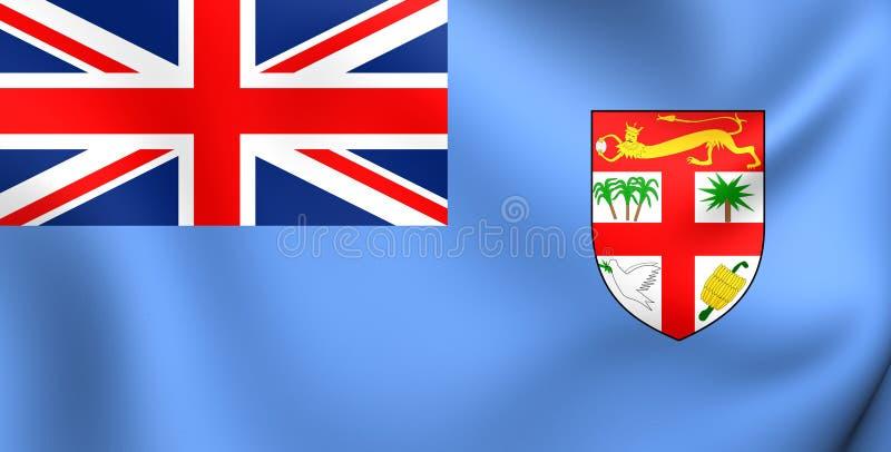 Indicateur du Fiji illustration stock