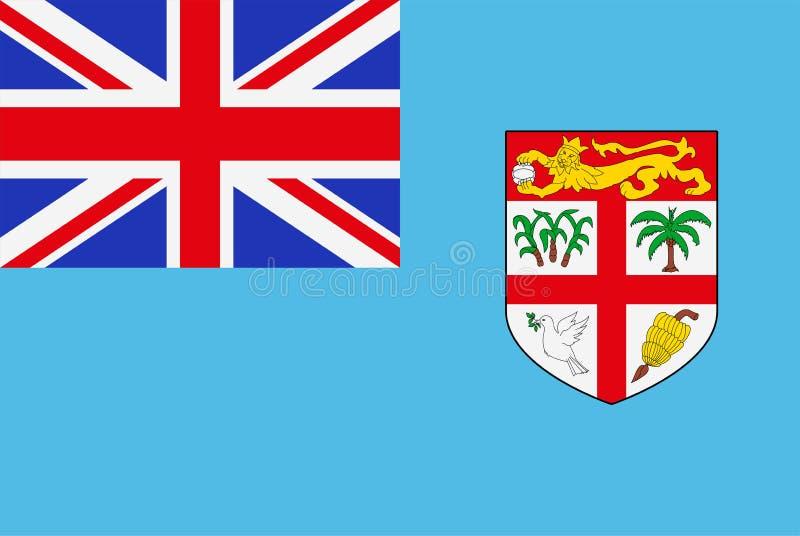 Indicateur du Fiji Drapeau d'État souverain des Fidji illustration de vecteur