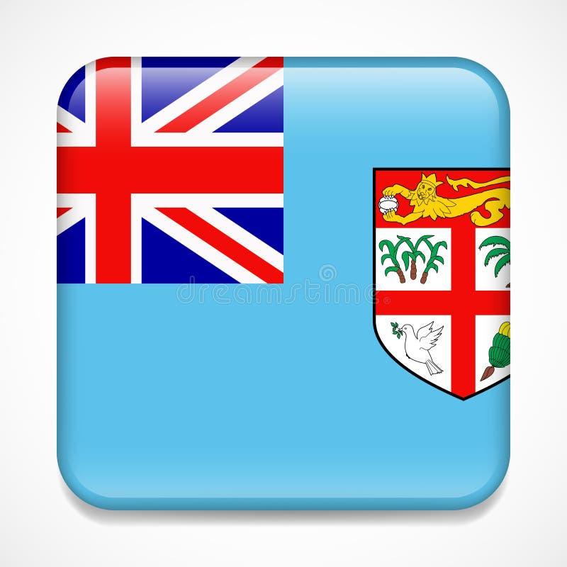 Indicateur du Fiji Insigne brillant de place illustration libre de droits