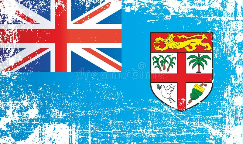 Indicateur du Fiji Taches sales froissées illustration de vecteur