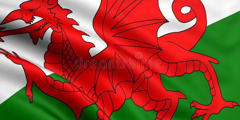 Indicateur du Pays de Galles illustration stock