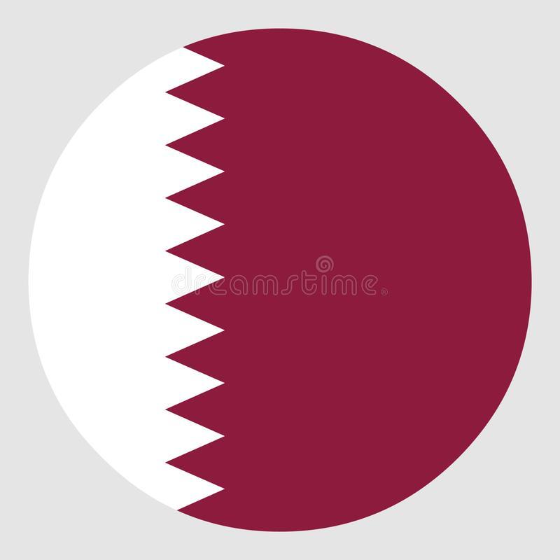 Indicateur du Qatar photo libre de droits