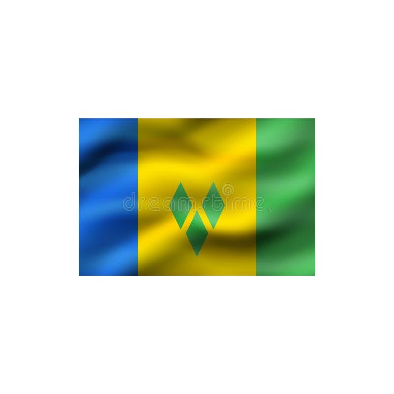 Indicateur du Saint Vincent And The Grenadines illustration libre de droits