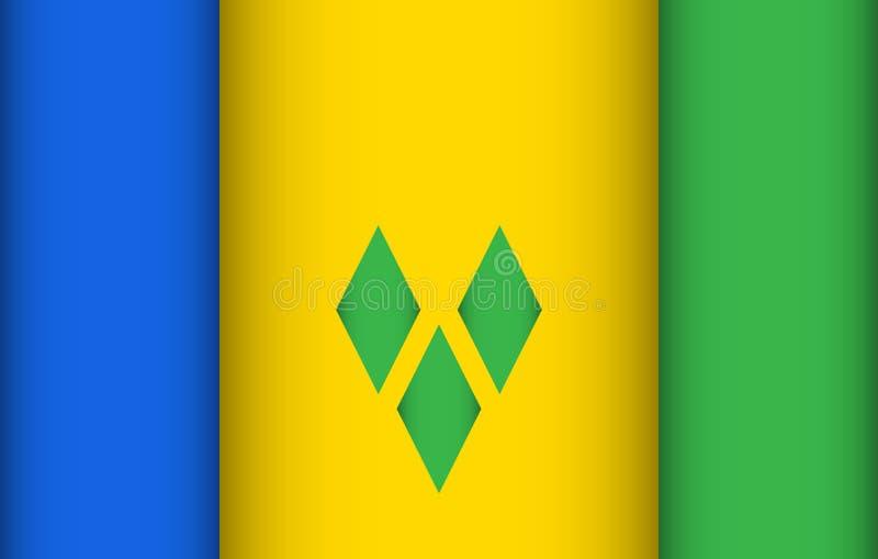 Indicateur du Saint Vincent And The Grenadines illustration de vecteur