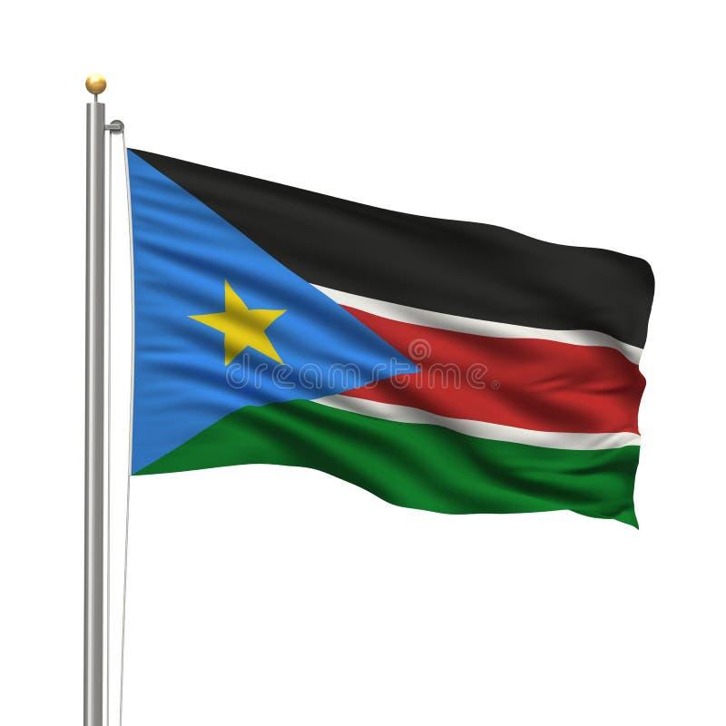 Indicateur du Soudan du sud illustration libre de droits