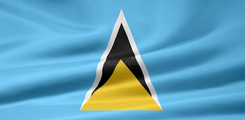Indicateur du St Lucia illustration stock