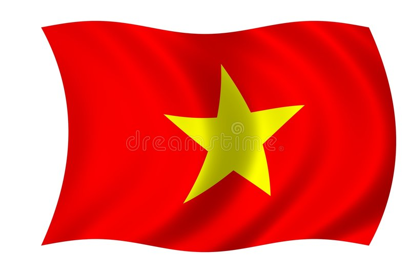 Indicateur du Vietnam illustration stock