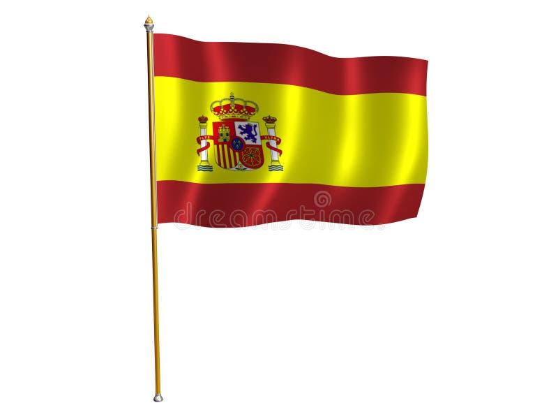 Indicateur en soie espagnol illustration de vecteur