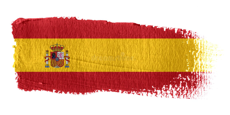 Indicateur Espagne de traçage illustration stock